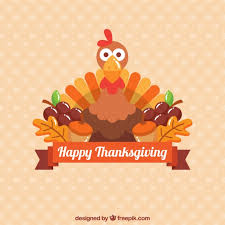 background of thanksgiving turkey in flat design vector free