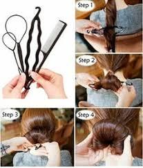 chignon tool ribbon magic twist bun maker clip hook holder magic