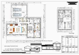plan maison etage 3 chambres plan de maison a etage 3 chambres meilleur de plan maison 90m2