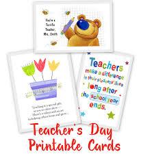 20 awesome teachers u0027 day card ideas with free printables teacher