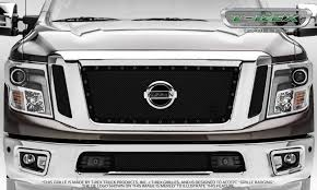 nissan car logo t rex nissan titan stealth metal 3 pc insert main grille w