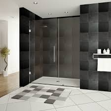 E Shower Door Lesscare Ultra E 44 X 72 Hinged Shower Doors With Side Panel