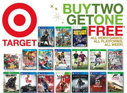 playstation 4 black friday target sale online november 9 2014 target ad has a buy 2 get 1 free game deal