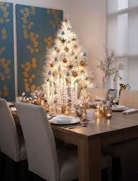 Blue And White Christmas Decorations Ideas by Modern Christmas Decor Ideas U2013 Dining Room With Christmas Tree