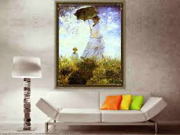The Most Famous Paintings The Walk Lady With A Parasol By Claude Monet