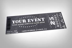 chalkboard event ticket invitation templates creative market