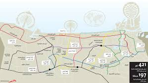 Metro Redline Map Dubai Metro 2017 Green Line To Silicon Oasis International City