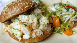 popcorn shrimp salad sandwiches with old bay aioli today com