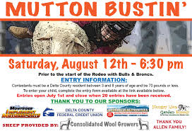 delta county rodeo saturday august 13