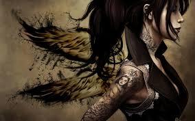 3d girls angel tattoo art free wallpaper for d 7668 wallpaper