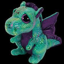ty toys beanie boo cinder green dragon 6