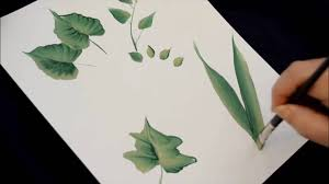 how to paint leaves youtube