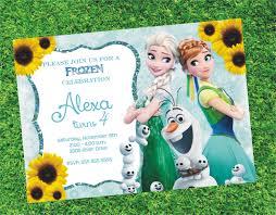 frozen fever blank invitations