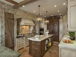 freestanding island for kitchen amazing rustic pleasant stone backsplash natural wooden beams