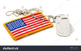 Embroidered American Flag Vivid Embroidered American Flag Patch Vintage Stock Photo