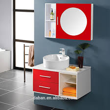 Wood Bathroom Furniture Waterproof Wood Bathroom Cabinet Vanity India Style In Small Big
