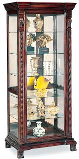 Ornate Display Cabinets Curio Cabinets Shelf Rectangular With Ornate Edge Decorative Feet