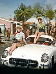 vintage corvette corvette cuties february 1955 vintage everyday