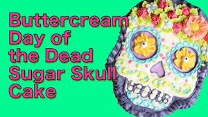 sugar skull halloween cake day of the dead buttercream cake