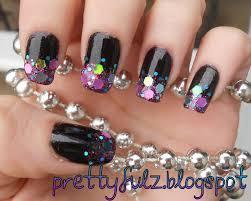prettyfulz cute nail art design glitter u0026 shimmer nail art design