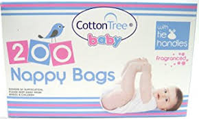disposable nappy bags 200 bags fragranced by cotton