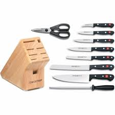 kitchen knives block set wusthof gourmet 10 piece knife block set at chefs corner store