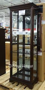 pulaski curio cabinet costco pulaski sliding door display cabinet costco frugalhotspot