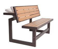 Folding Picnic Table To Bench Outdoor Bench Table Convertible Garden Deck Patio Seating Picnic