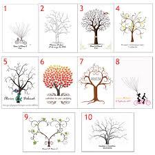 online shop 10 style party thumbprint tree diy wedding fingerprint