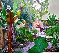 Tropical Backyard Ideas Screen Lower House Blockwork Tropical Landscaping Pinteres