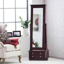 jewlery armoire mirror belham living swivel cheval mirror jewelry armoire walmart com
