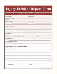 incident report form template word insurance incident report template unique free incident report