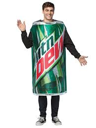 mens costumes men s mountain dew can costume food mens costumes