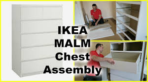 ikea malm chest of 6 drawers youtube