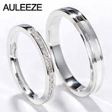 white gold wedding rings auleeze classic diamond rings men women wedding