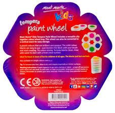 mont marte kids tempera stackable paint wheel pastel