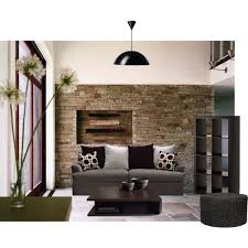Living Room In Earth Tones Polyvore - Earth colors for living rooms