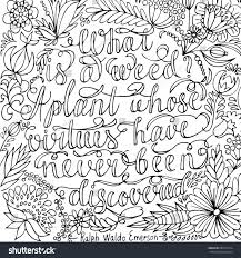 coloring page motivational quote coloring stock vector