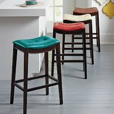 Wooden Bistro Chairs Furniture Bar Stools With Cushion Seat Wooden Stool Back Bistro