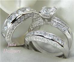 wedding rings sets his and hers for cheap his matching 3pcs engagement wedding ring set sterling silver