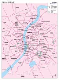 Map Of India Cities Ahmedabad Map
