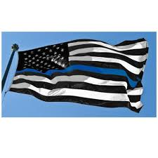Thin Blue Line Flag Thin Blue Line American Flag 3 By 5 Foot Flag With Grommets