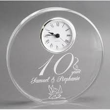 10th year wedding anniversary year anniversary gift clock