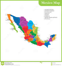 Mexico Map With Cities by The Detailed Map Of The Mexico With Regions Or States And Cities