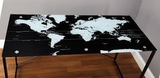 World Map Duvet Cover by Tms World Map Writing Desk U0026 Reviews Wayfair