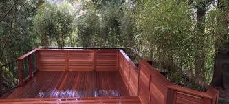 nw portland mahogany deck with bamboo planter boxes portland