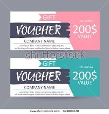 discount gift card gift voucher template discount certificate gift stock vector