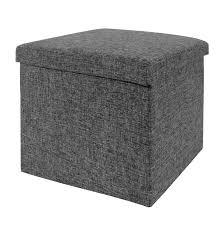 foldable storage ottoman charcoal gray seville classics