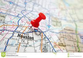 Map Houston Houston Map Stock Photo Image 41224144