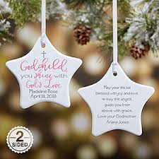god s personalized ornament for godchild gifts